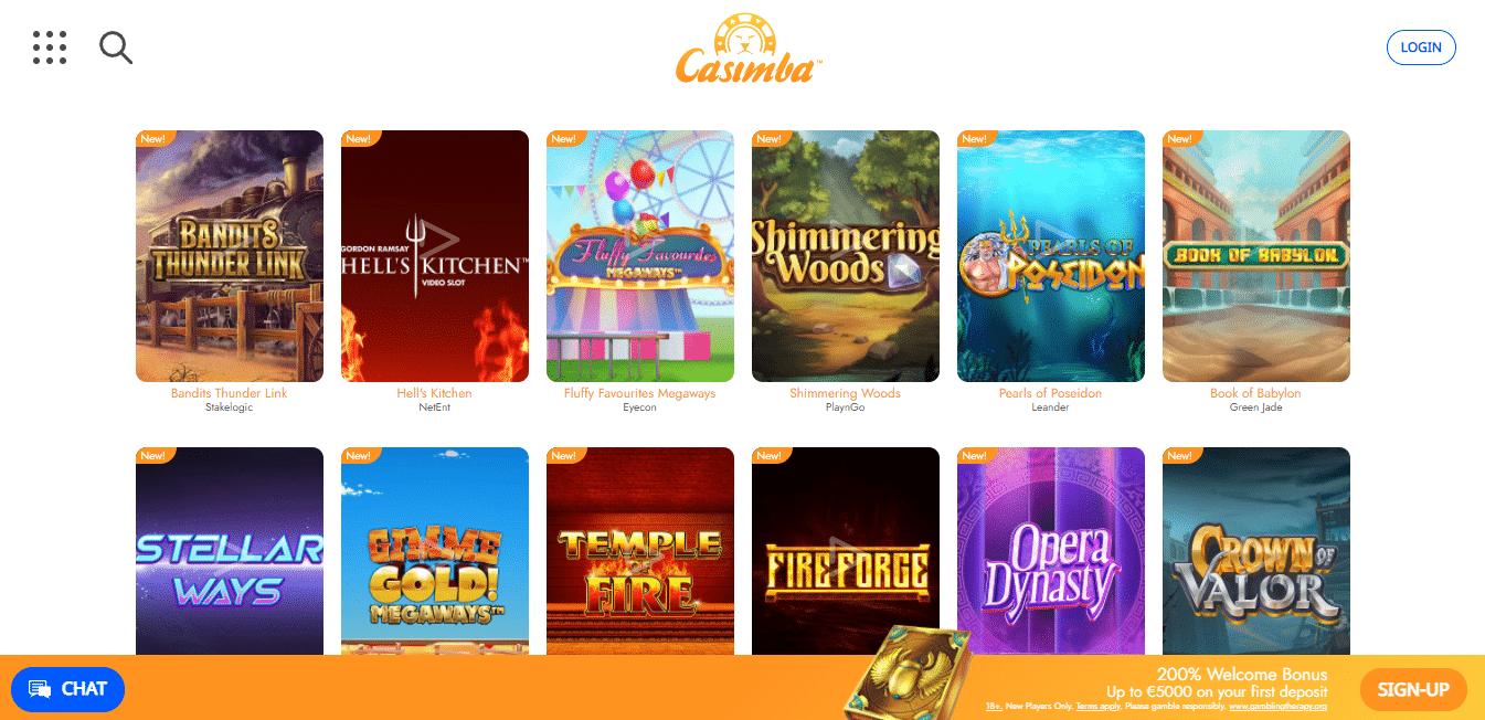 Casimba Game Selection