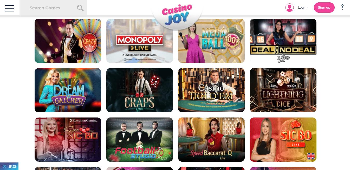 Casino Joy Live Casino