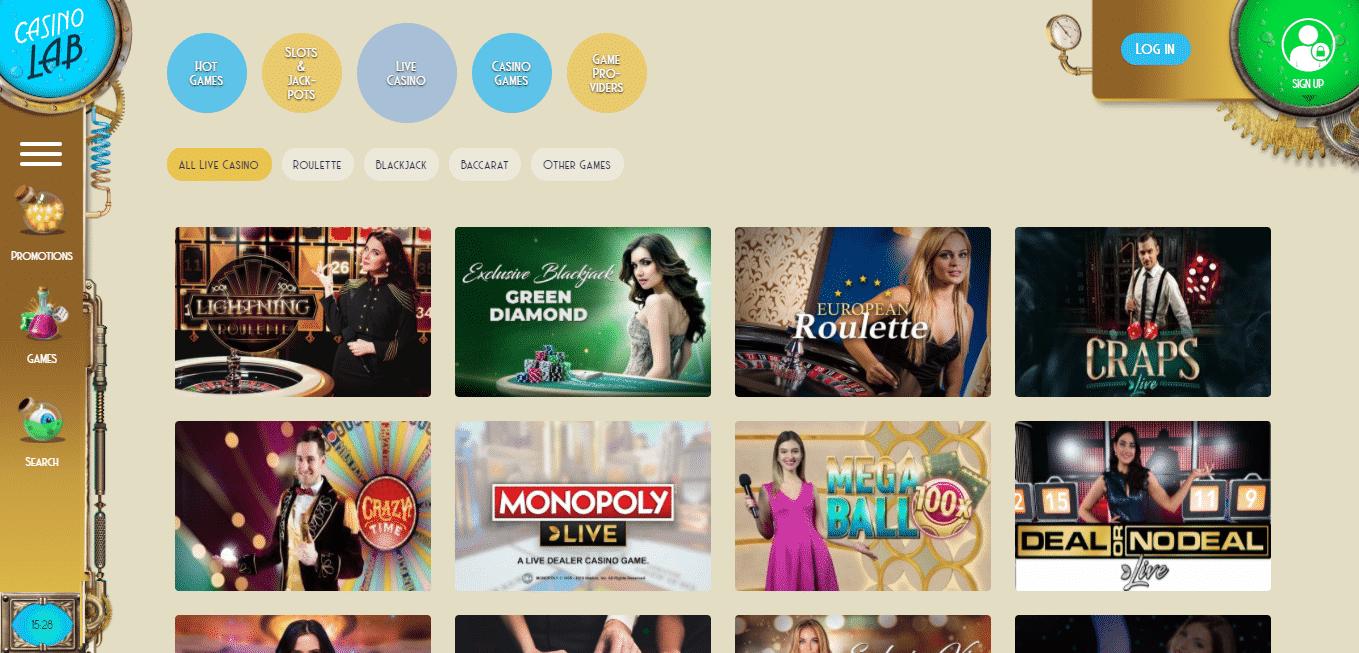 Casino Lab Live Casino
