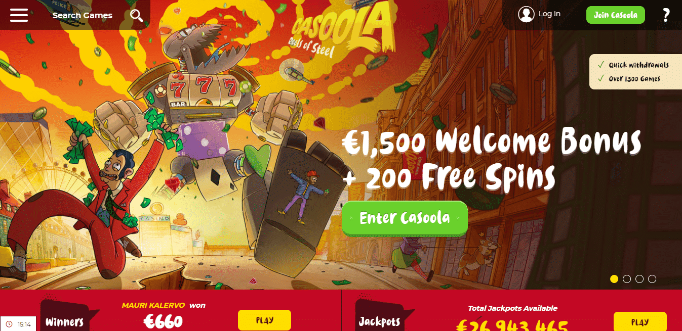 Casoola Homepage