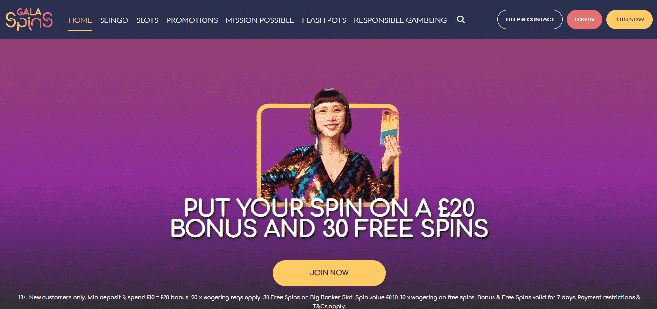 Gala Spins Homepage