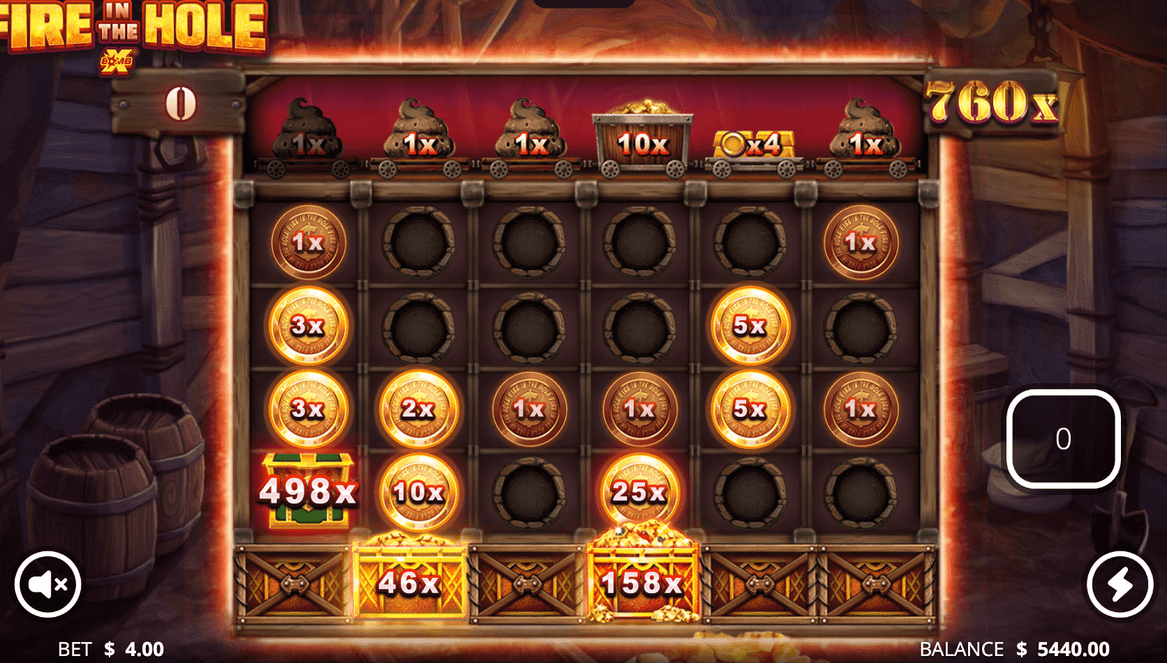 Fire In The Hole Bonus Game