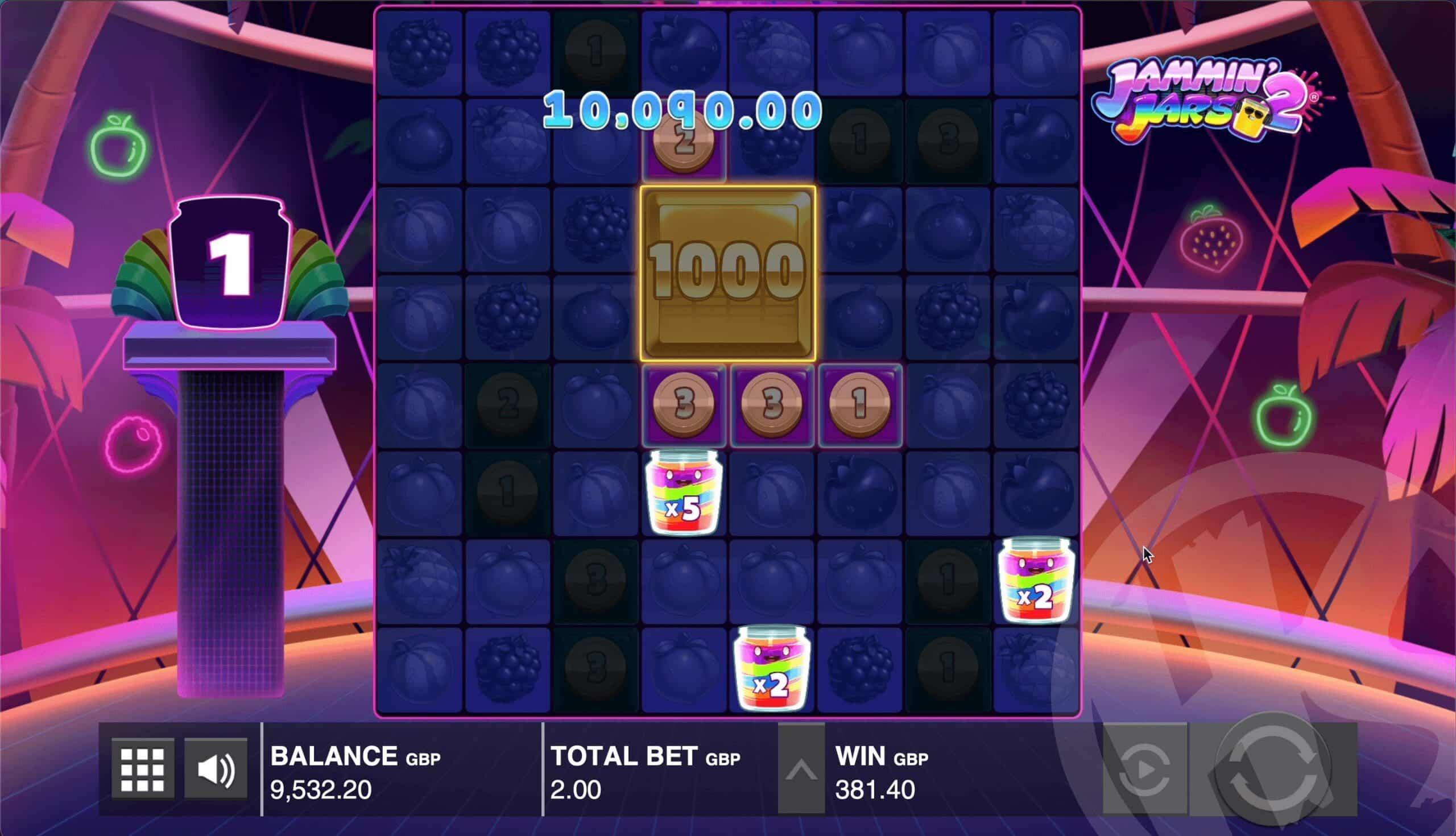 Jammin' Jars 2 Giga Jar Feature