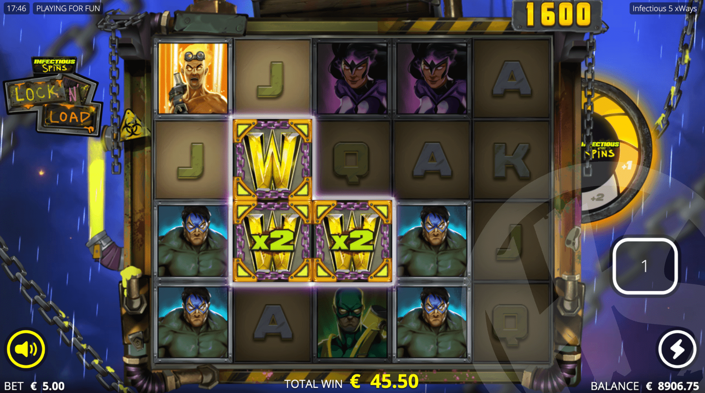 Infectious 5 xWays Lock n' Load Free Spins