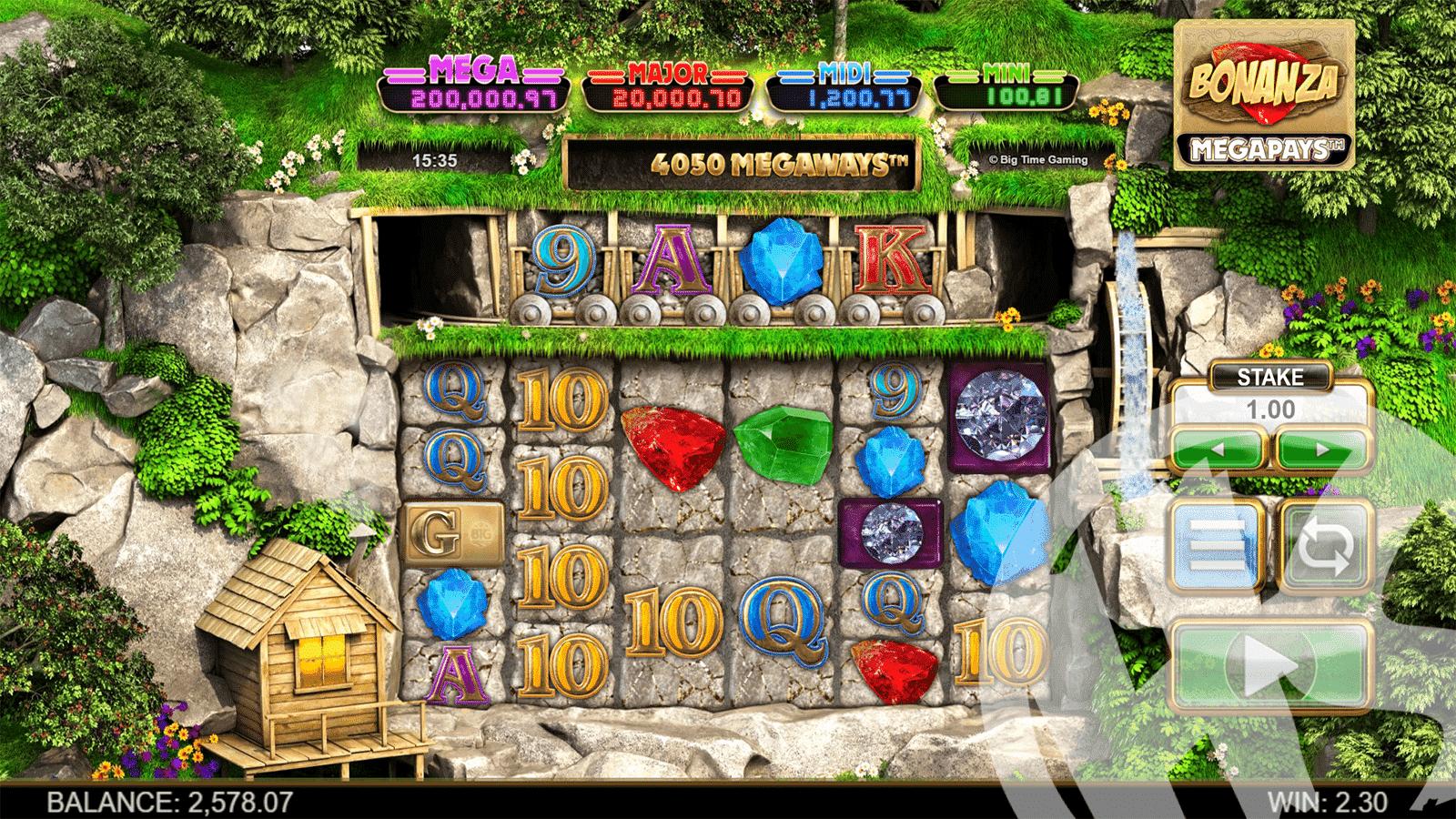 Bonanza Megapays Base Game