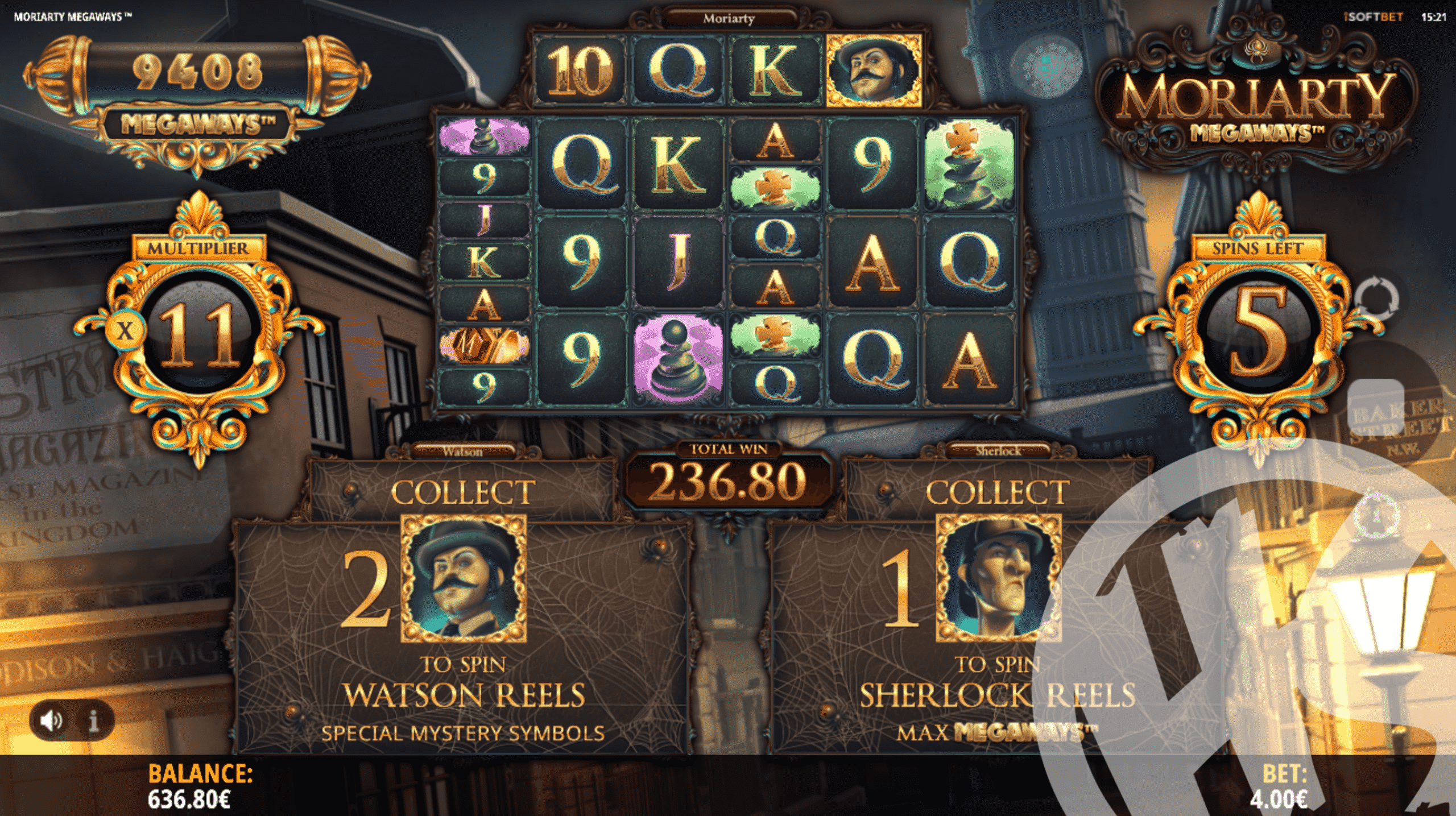Moriarty Megaways Free Spins