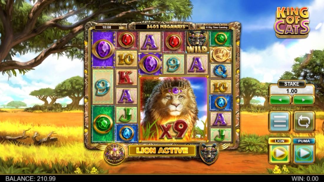 King of Cats Megaways Lion Base Game