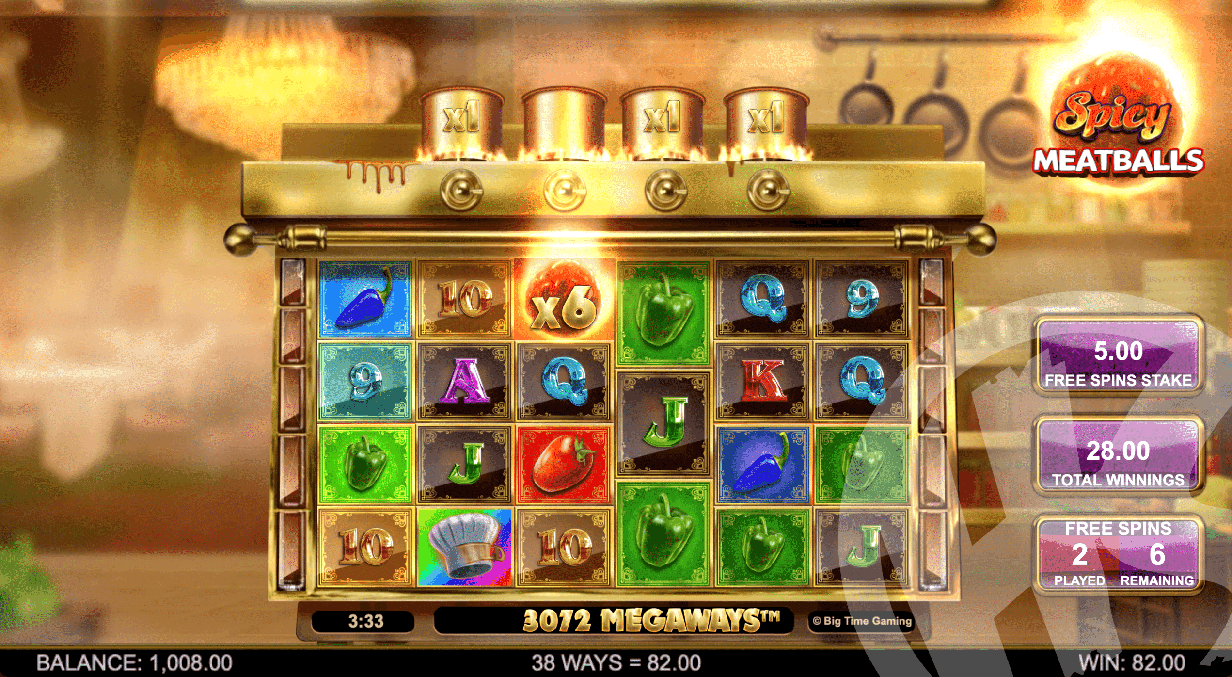 Multipliers Carry Over Into Free Spins
