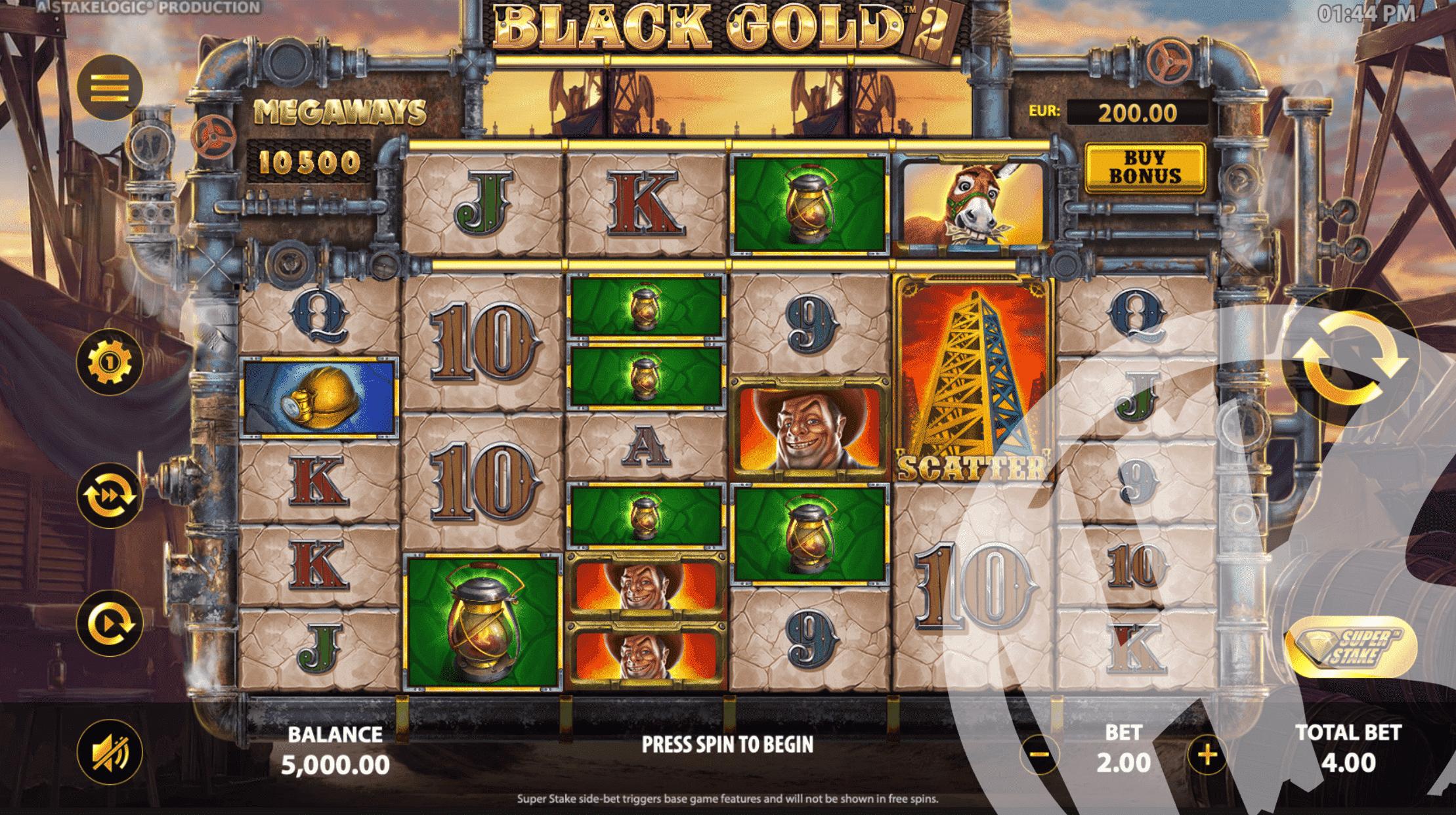 Black Gold 2 Megaways Base Game