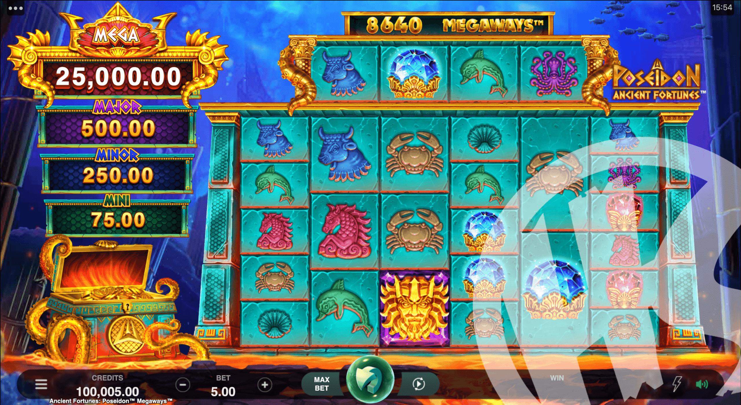 Poseidon Ancient Fortunes Megaways Base Game