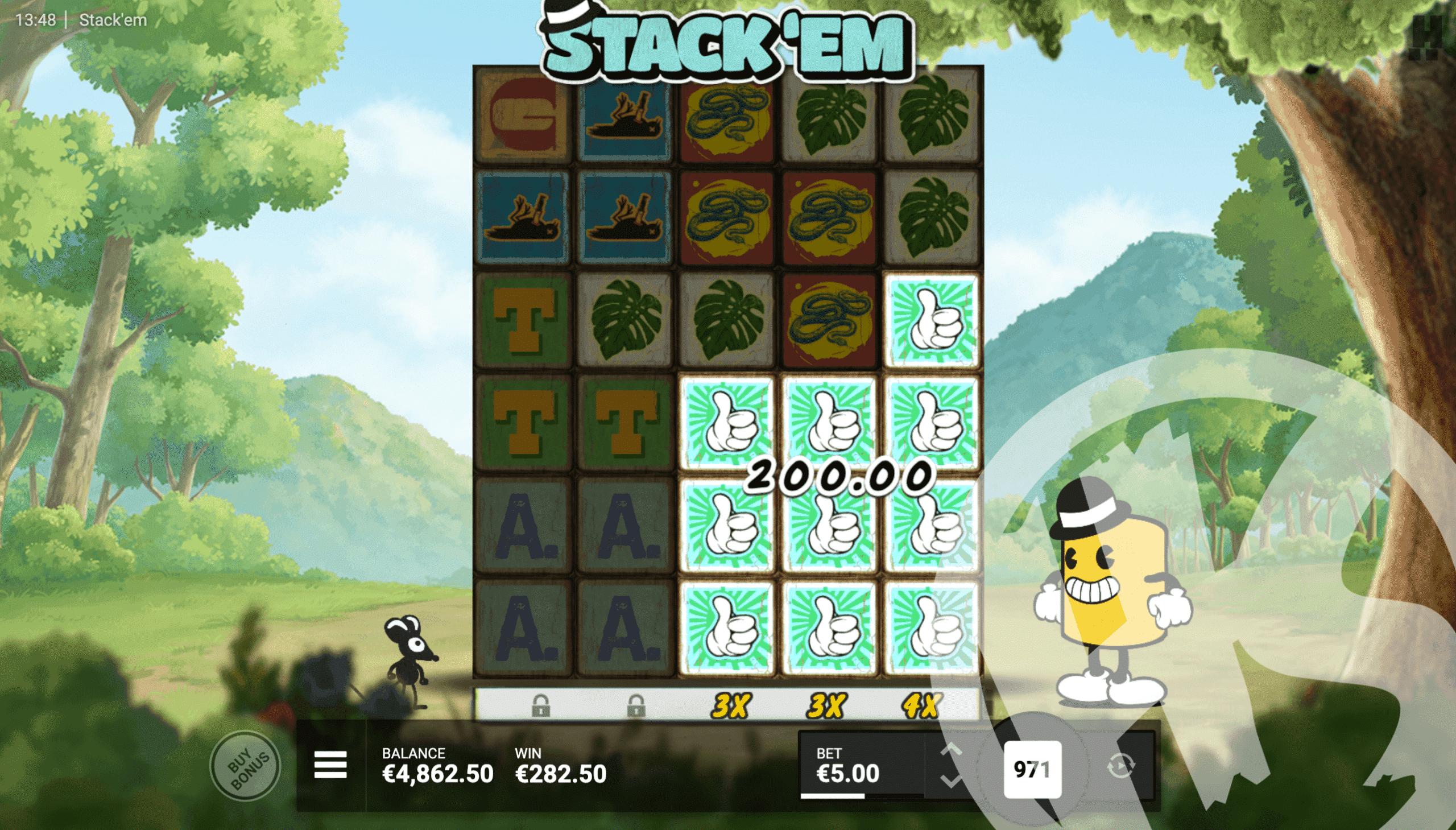 Stack 'Em Cluster Win