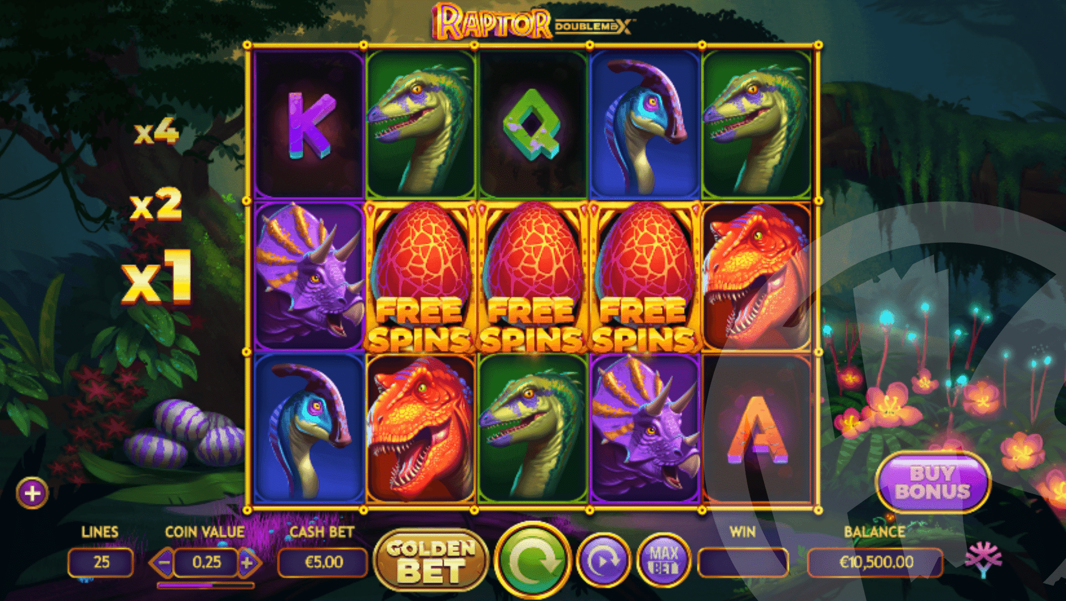 3+ Scatters Triggers Free Spins