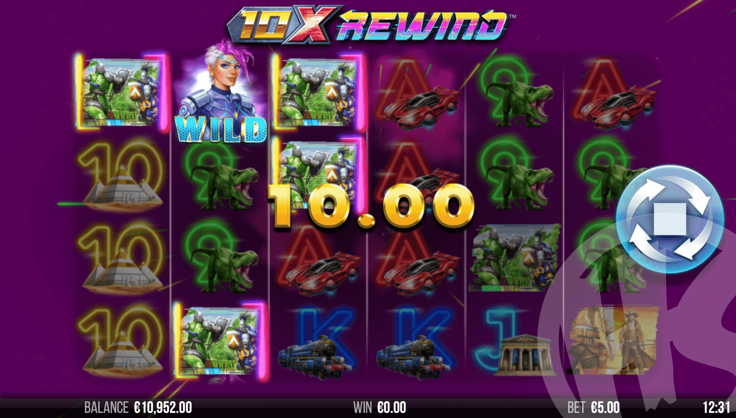 10x Rewind Offers Players 4,096 Ways to Win