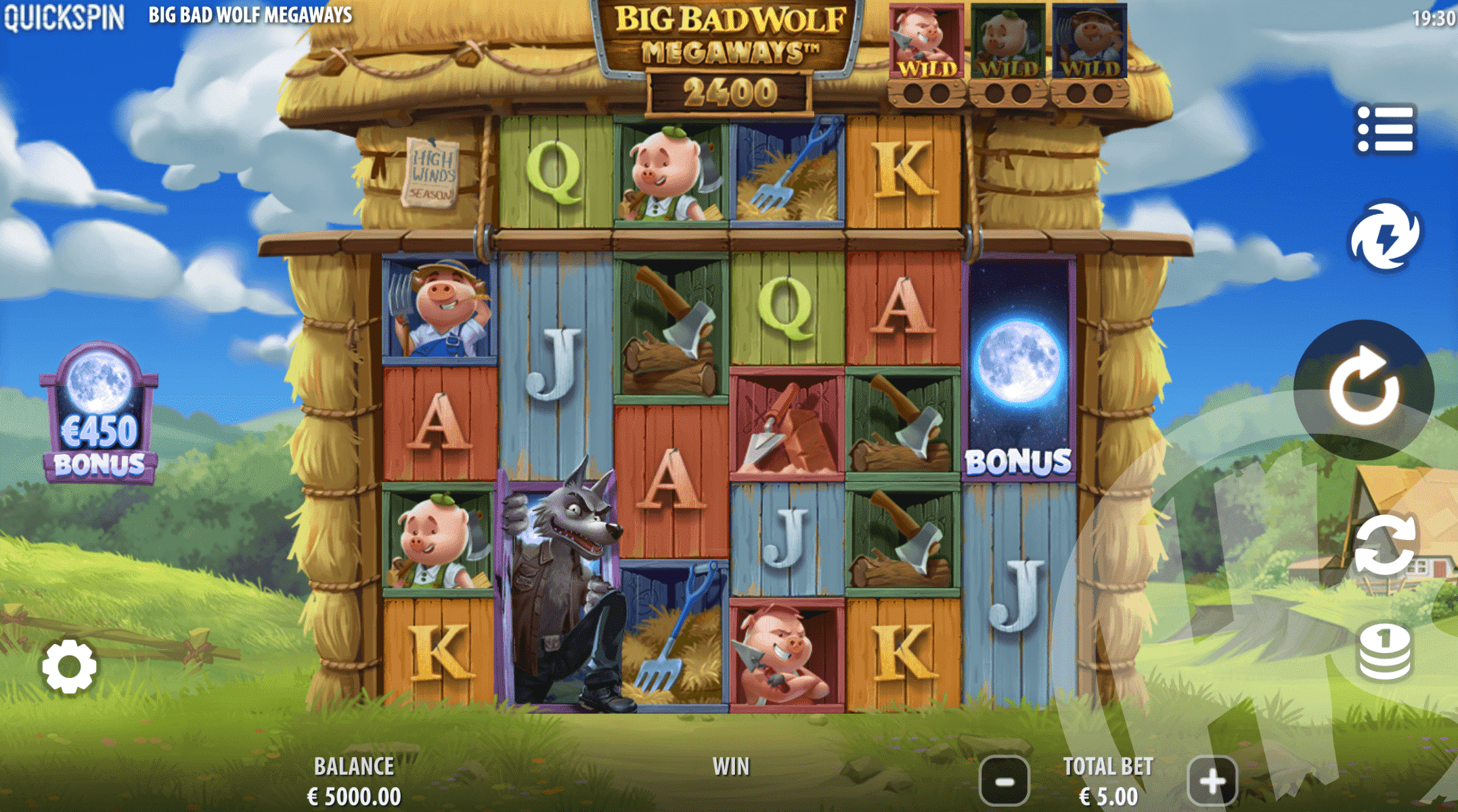 Big Bad Wolf Megaways Base Game