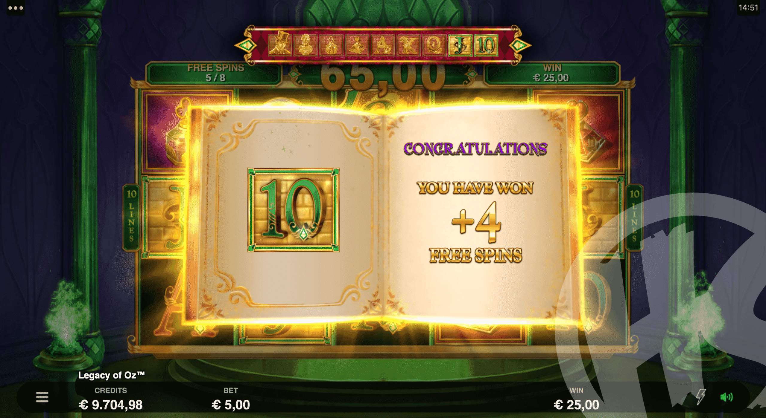 2 Scatters Retrigger Free Spins