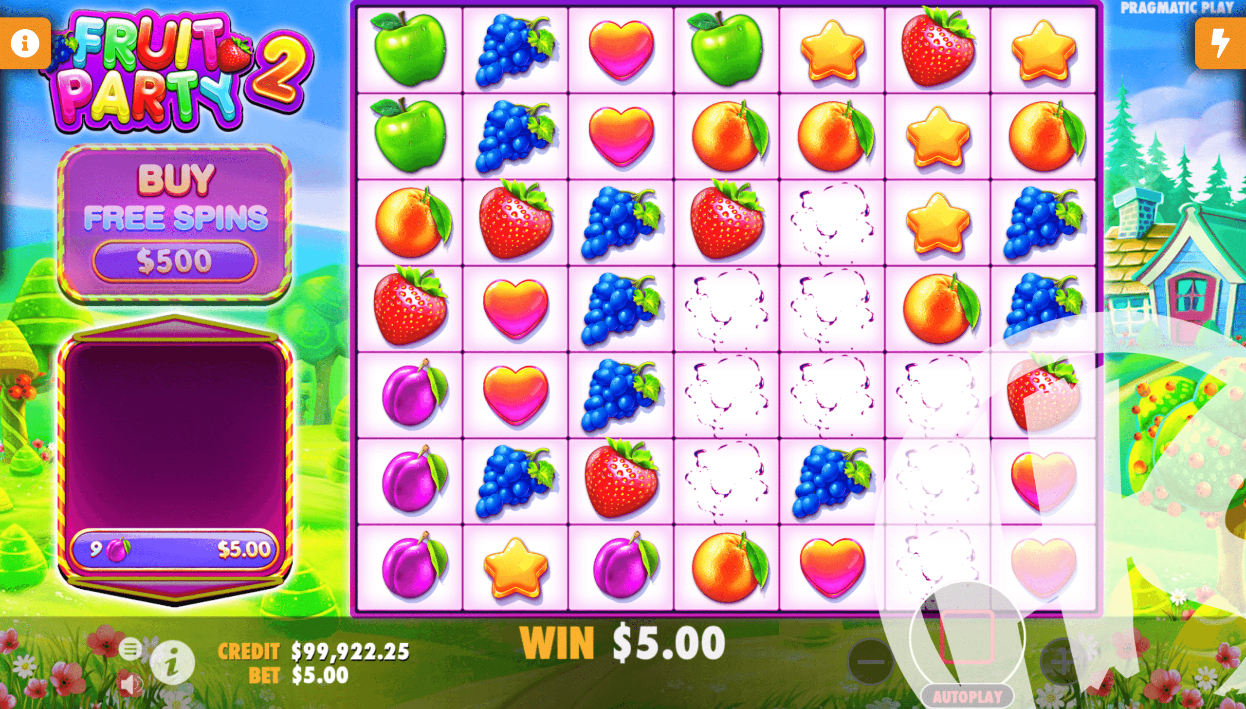 Fruit Party 2 Tumble Feature