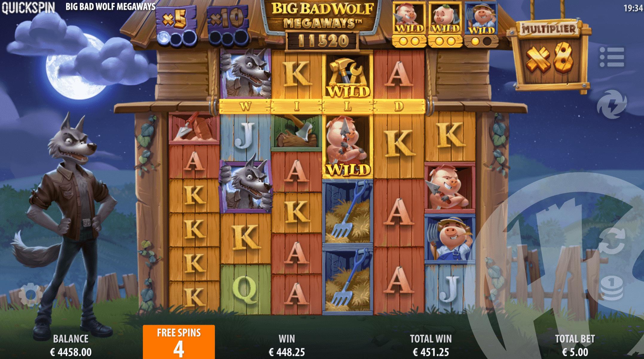 Big Bad Wolf Megaways Free Spins