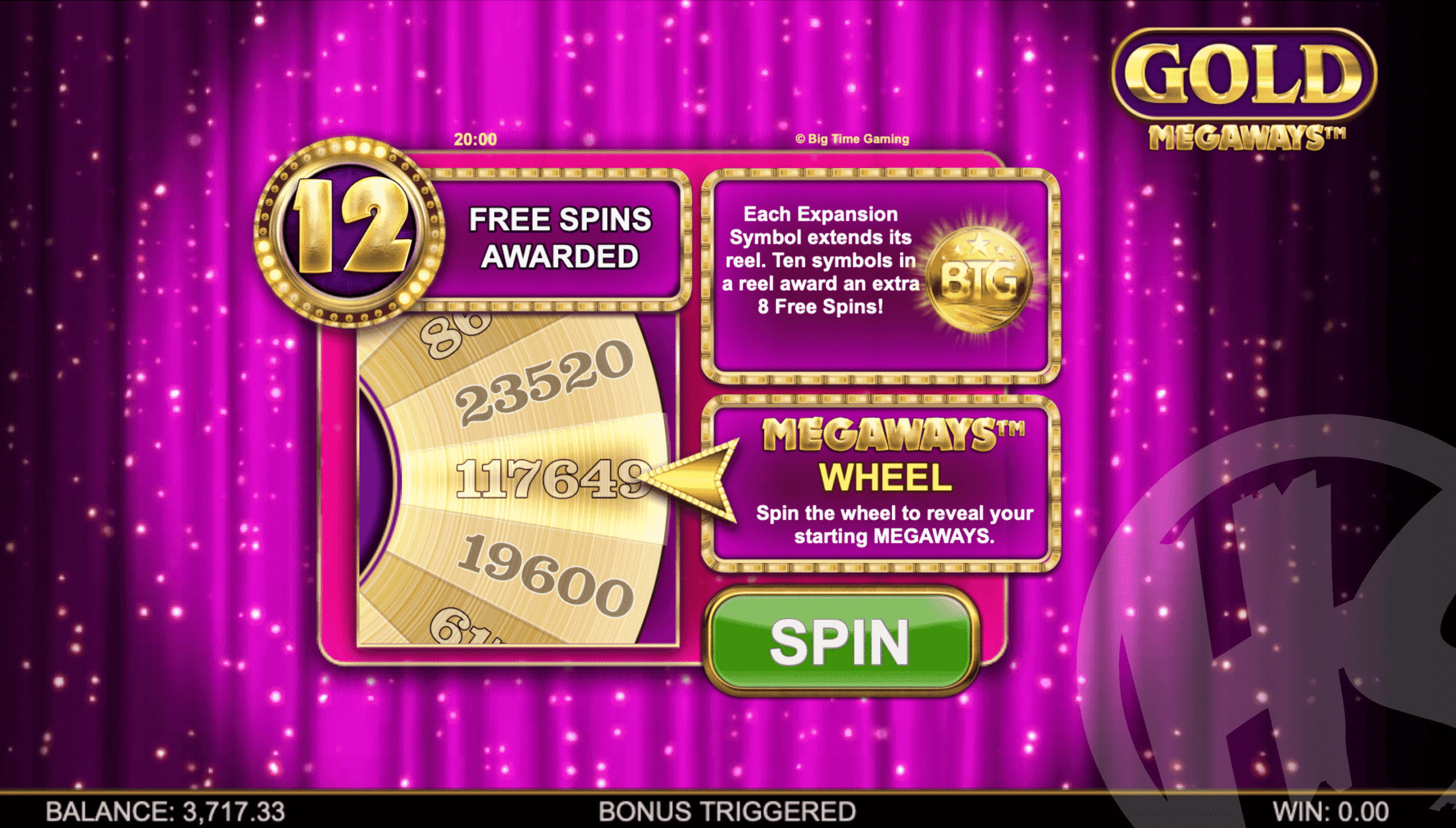 Spin The Wheel to Reveal Starting Megaways for Free Spins