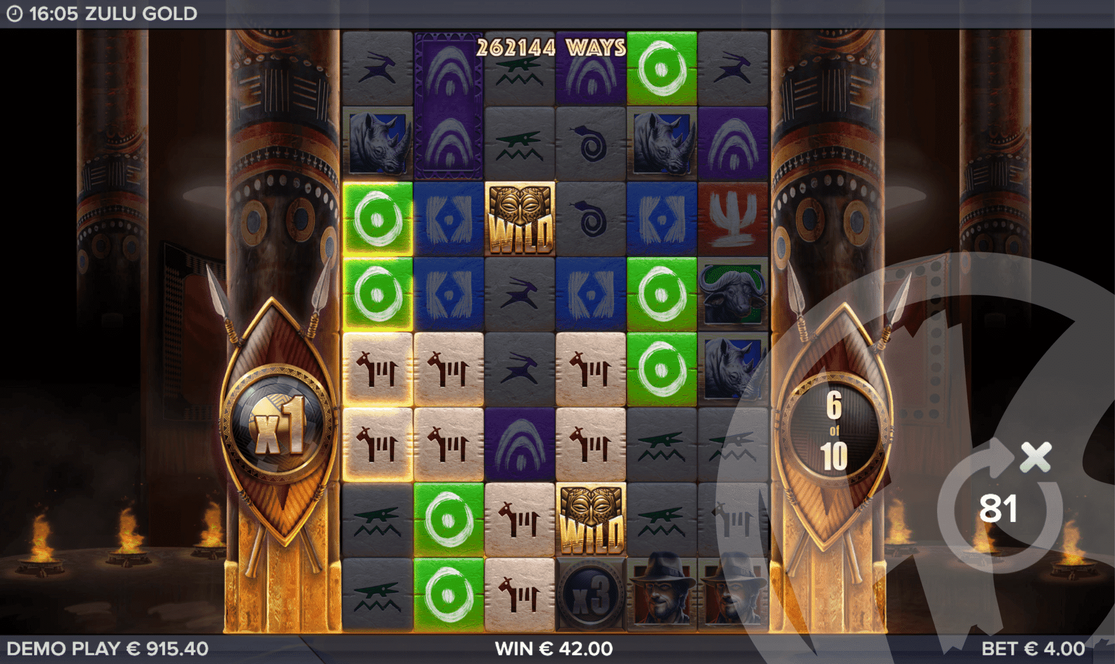 Ways to Win Increase as High as 262,144