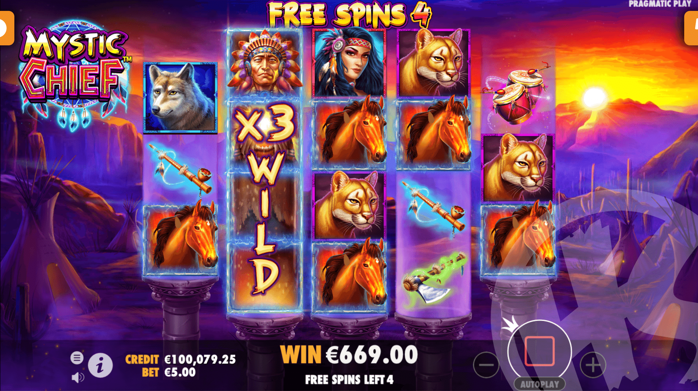 3 Scatters Trigger 8 Free Spins