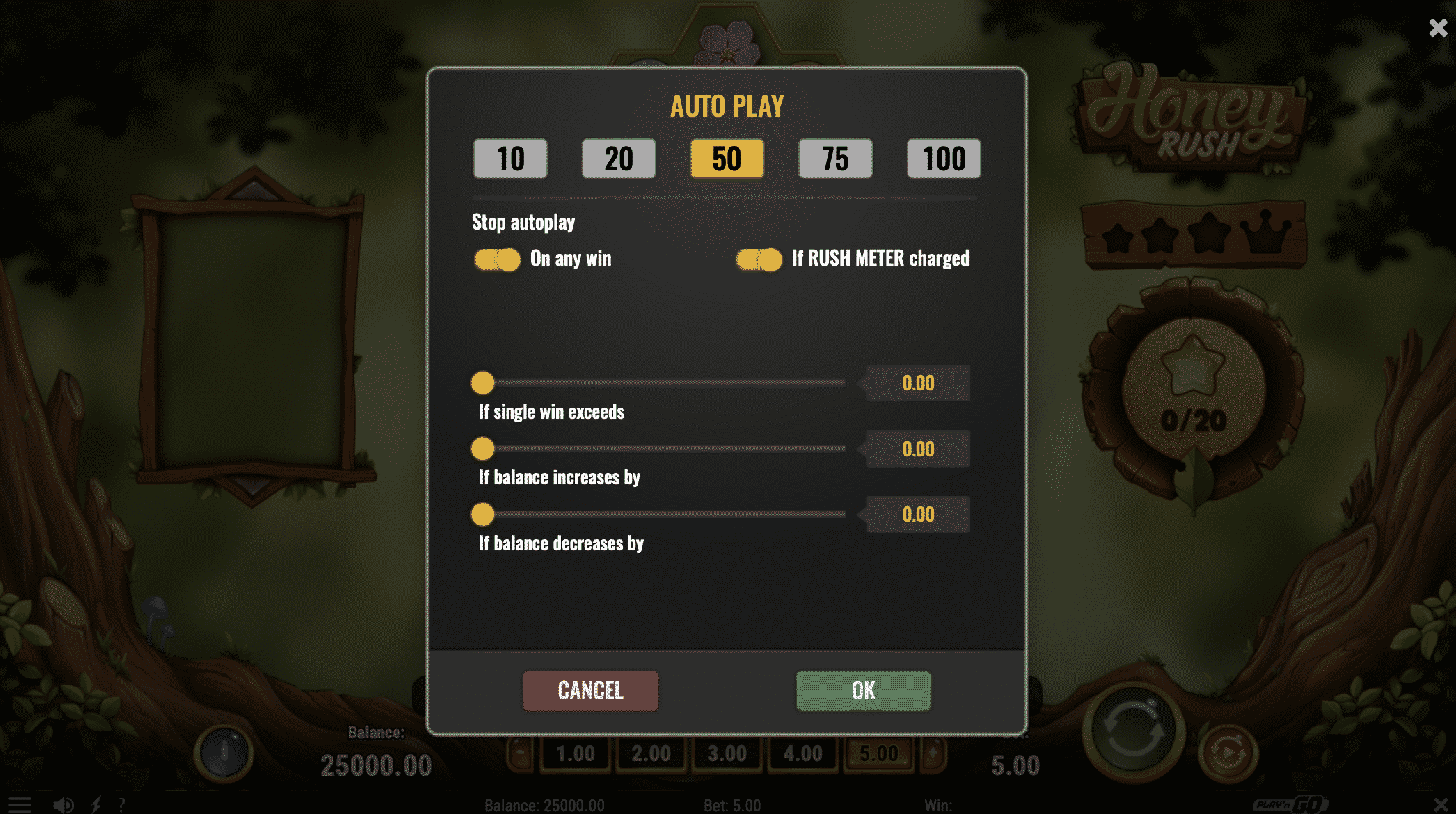 Auto Play Allows Players to Set Win and Loss Limits