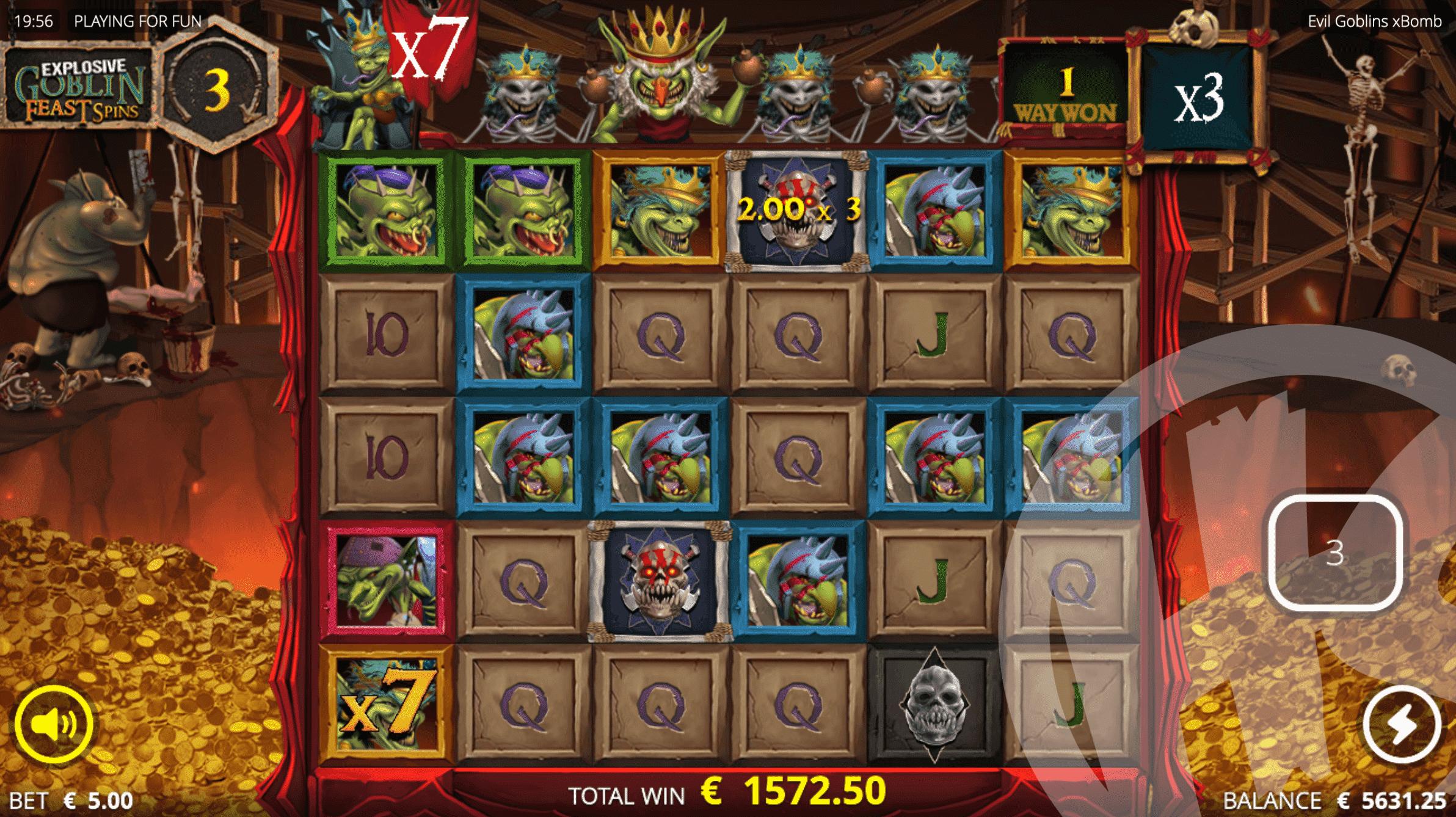 Evil Goblins xBomb Explosive Goblin Feast Spins