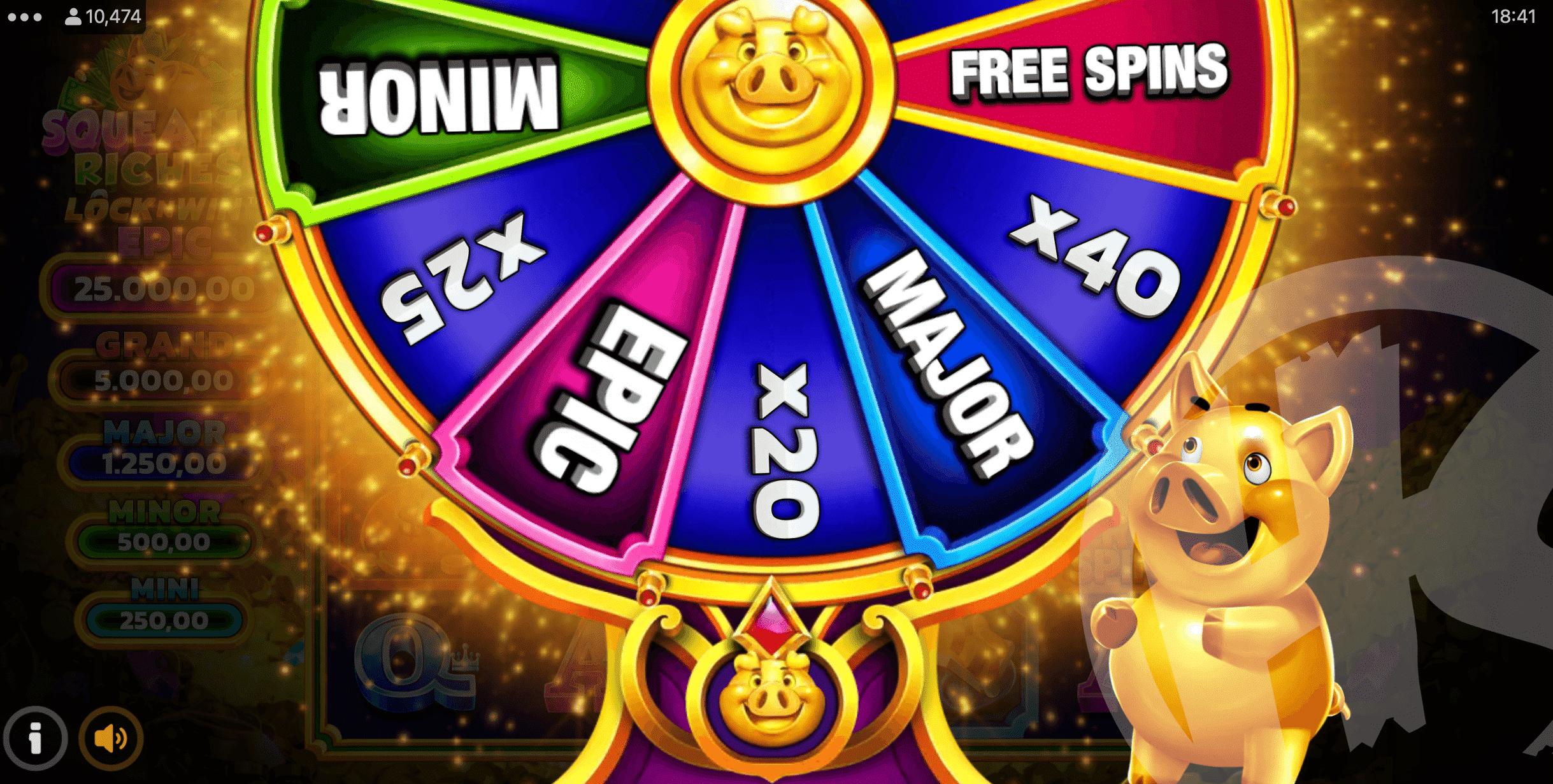 Squealin' Riches LockNWin Bonus Wheel