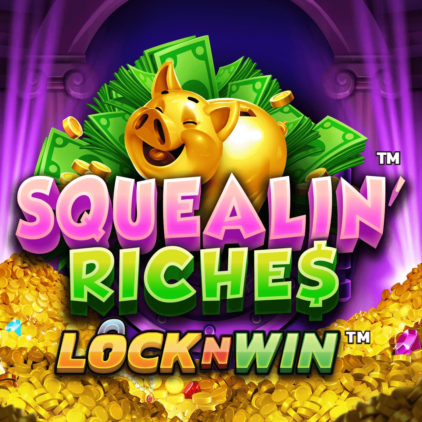 Squealin' Riches Lock n Win Logo