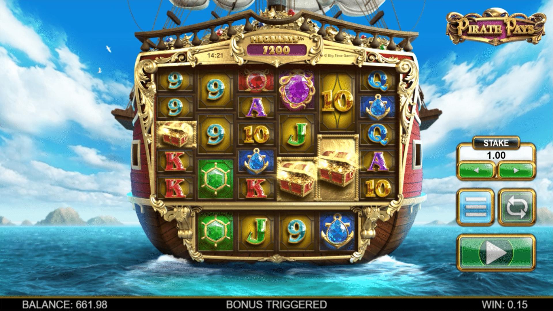 Pirate Pays Megaways Base Game