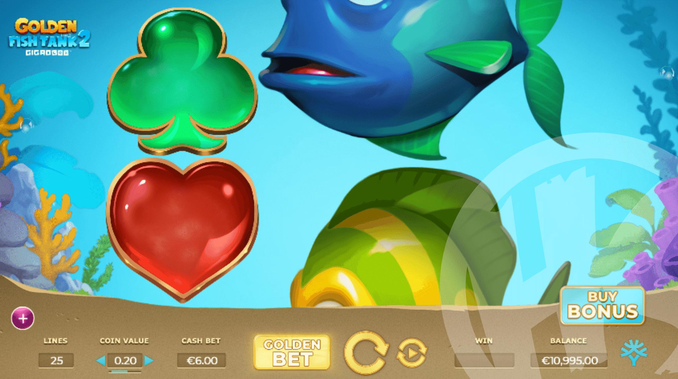 Golden Fish Tank 2 Gigablox Features 25 Paylines